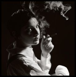 woman and cigarettes. by angelcurls