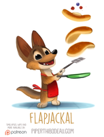 Daily Paint 1544. Flapjackal by Cryptid-Creations