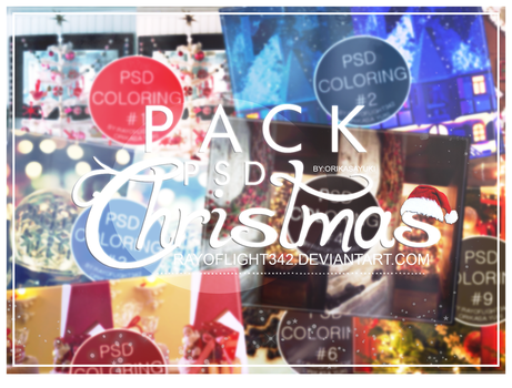 Pack PSD Coloring Christmas~ by RayOfLight342