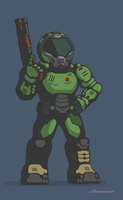 Doom Slayer by Ahnanano
