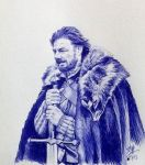 Quick pen sketch of Eddard Stark (Game of thrones) by chaseroflight