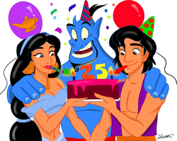 Happy 25th Aladdin! by sparrowscaribbean