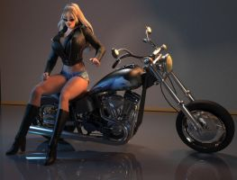 Biker Voluptuous Vicki 01 by willdial