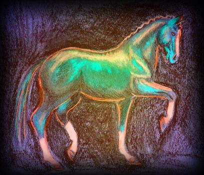 Neon Horse by chibianne