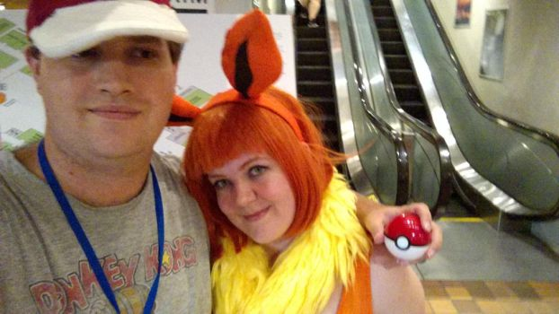 With Flareon Selfie (Conbravo 2017) by JackitK