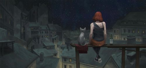 Nocturne: Over The Roofs by hunterkiller