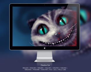 Cheshire Cat wall by petque