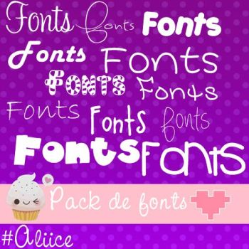 Pack de fonts by Aliice15