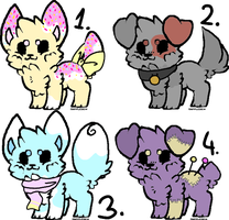 puppy Adopts #1 .:OPEN:. 1/4 by GoldiiStarr