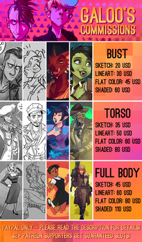 2018 Commission prices by GalooGameLady