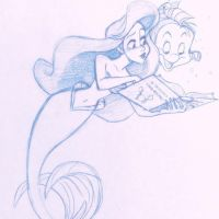Ariel Sketch by 8bitconfetti
