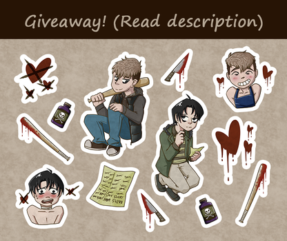 Killing Stalking sticker sheet (GIVEAWAY CLOSED) by staptra