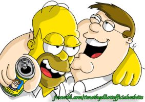 Homer and Peter by UBob