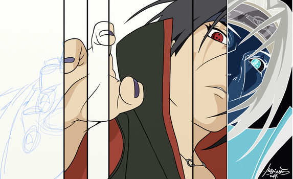 Itachi drawing stages. by IsoguL