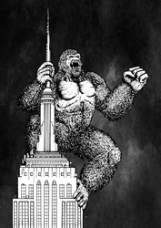 Inktober 2017 Day 27: Climb (King Kong) by Smully