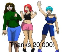 Thanks for 20,000 hits by fighterxaos