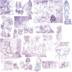 Sketchbook Bonanza 2015 part 2 by Padder