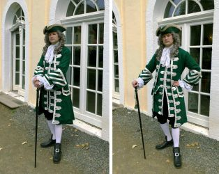 Green and Silver Frock Coat by paul-rosenkavalier