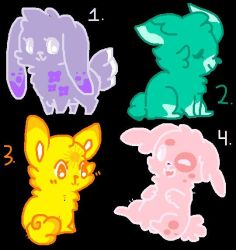 Adopts. cheap and open! by MysticShinyUmbreon