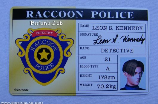 Biohazard 2 Leon ID phone Card by BirkinsLab