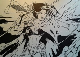 Graves female version Inks by MikeES