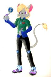 Mouse-sona - Commission for ZeeWolfman by Sakura-Courage-Solo