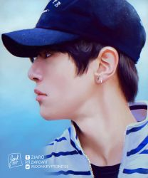 [Digipainting] Minhyuk: Cutie in a cap by Z1aR0