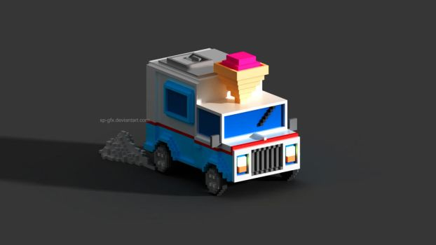 Ice cream truck | Voxel by SP-GFX