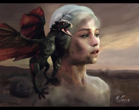 Danaerys Mother Of Dragons by urumi13