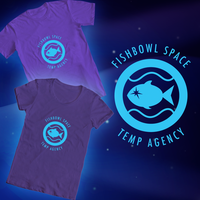 Fishbowl Space Temp Agency T-Shirt by BeckHop