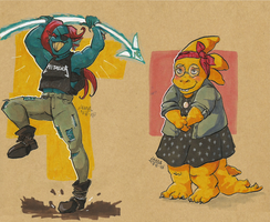 What I wore: Undyne and Alphys by Dauverney