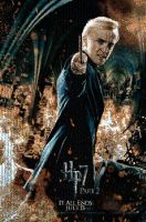 Hp7 draco malfoy mosaic by smallrinilady
