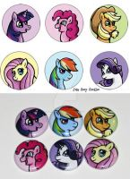 Magic is Friendship 1 inch Button Set by JellySoupStudios