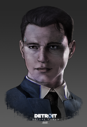 Detroit Become Human | Connor by lBlacKiE-MaiDeNl
