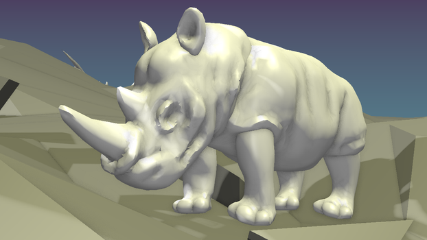 Day 15 - Rhino by wingsyo