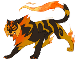 Tiger Fakemon by Kipine