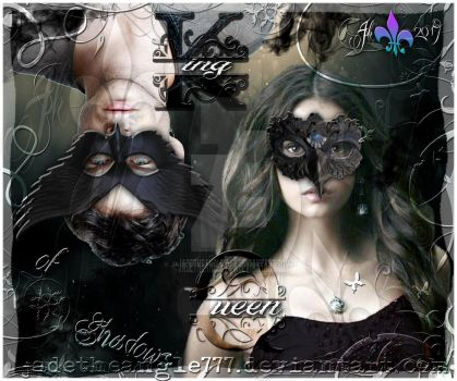 Damon and Elena King and Queen of Shadows by JadeTheAngle777