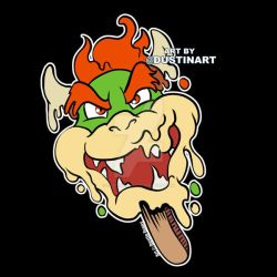 Melty Bowser Popsicle by DustinEvans