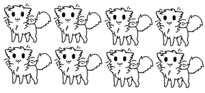 chibi cat lines by Talitah