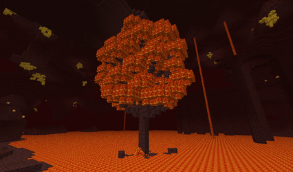 Minecraft:  Hell's Lava Tree by MythicalGrim