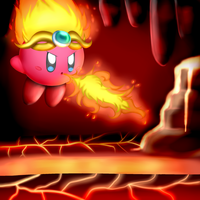 Fire Kirby~ by bfdifan123