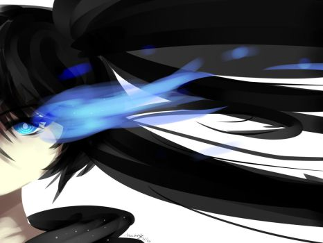 Black Rock Shooter Painting by Maeveycorn360