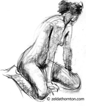 Nude in charcoal 2 by zeldat