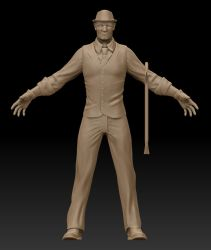 Suited Man update w/ a crowbar and hat by Donavonyoung