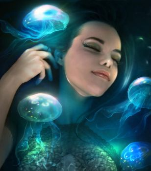 Dreaming of jellyfish by ElenaDudina