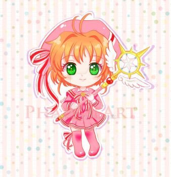 Sakura Chibi Card Captor Sakura Clear Card by Phadme