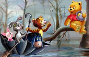 Winnie the Pooh and the Blustery Day by HoneyBees987