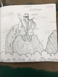 Master Roshi just chillin' by GeekMaestro