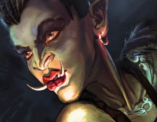 Orc female by oakenvial