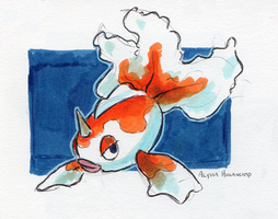 #118 Goldeen by little-ampharos